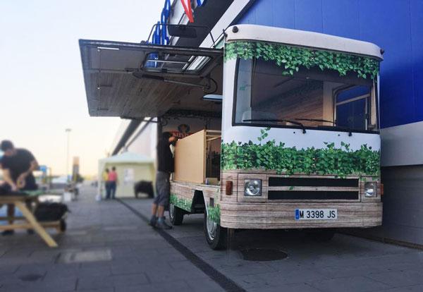 food truck frontal plaque