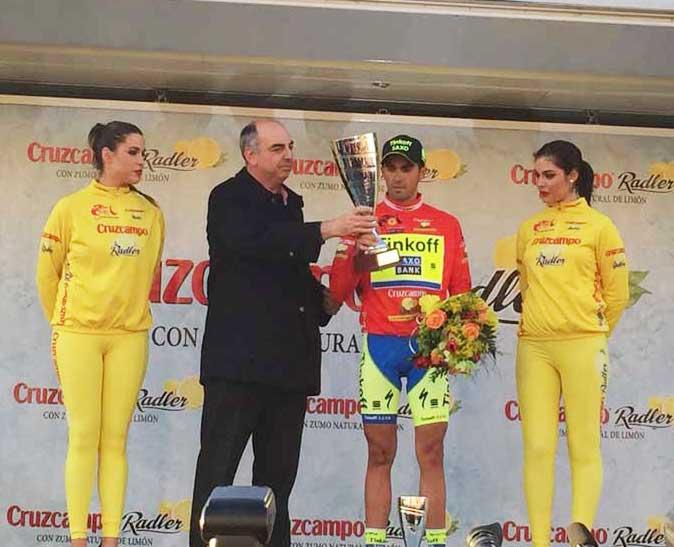 Ganador 1ª Etapa  Vuelta Ciclista Andalucía Alberto Contador