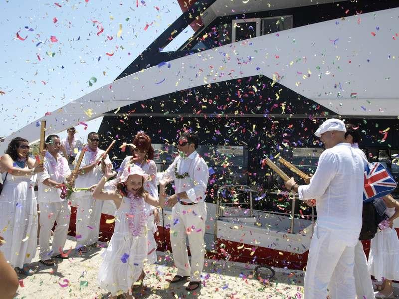 boda en barco